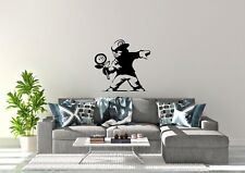 Banksy Style Mario With Flower Design Wall Art Decal Vinyl Sticker