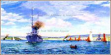GRAND Mini-PRINT: Plymouth Harbor: Norman (Rodney) Wilkinson RMS Titanic