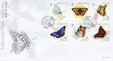 Jersey 2017 FDC Butterflies Links with China 6v Cover Butterfly Insects Stamps