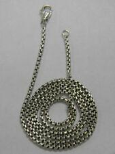 "David Yurman 18"" Small Box Chain Necklace 2.7mm"