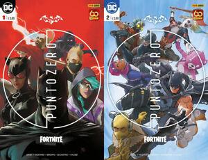 BATMAN FORTNITE PUNTOZERO 1 E 2 CON CODICE NUOVO PANINI COMICS DC COMICS