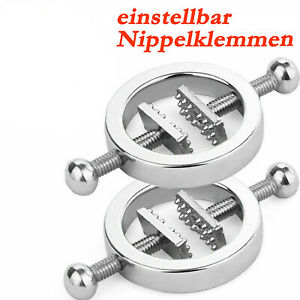 1Paar Bondage BDSM Nippel Klemmen Fetisch Gewicht Set Glocken nipple clamps DE