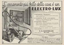Z1086 Aspirapolvere ELECTRO-LUX - Pubblicità d'epoca - 1934 Old advertising