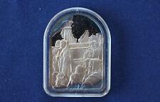 1978 Hamilton Mint Ten Commandments IV Keep Holy Sabbath Silver Art Bar P0124