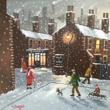 MAL.BURTON ORIGINAL OIL PAINTING.DOWN THE CHIPPY NORTHERN ART DIRECT FROM ARTIST
