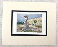 Il Palazzo Di Versailles Francia Centrale Facciata Landscape Antico Stampa Ca.