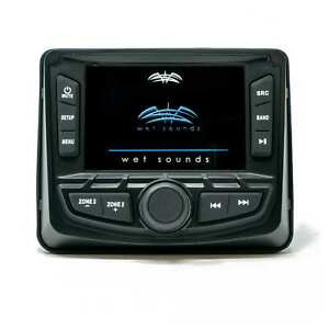 Wet Sounds REFURBISHED WS-MC2: 3-Inch Gauge Style Marine Media System Bluetooth