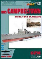 "GENUINE PAPER-CARD ""GPM"" MODEL KIT - HMS ""CAMPBELTOWN"""