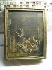 710c9ba8974f ART NOUVEAU DECORATIVE JEWELRY BOX W/ MIRROR - CIRCA 1900's - FRENCH PRINT * SALE