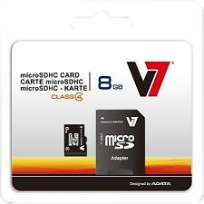 V7 Videoseven Vamsdh8gcl4r-2e Class 4 micro SDHC