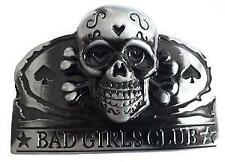 BOUCLE DE CEINTURE METAL OVALE CRANE TETE DE MORT BAD GIRLS CLUB