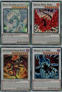 Yu-Gi-Oh! Arcidemone Drago Rosso Polvere di Stelle Rosa Nera Ali Nere ☻ ITALIANO