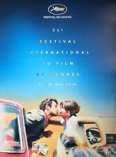 Affiche originale du 71eme festival de Cannes 2018 Belmondo/Carina sans plis