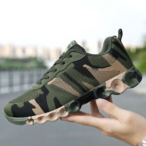Men's Camouflage Training Shoes Lace Up Breathable Sneakers Athletics Shoes HOT