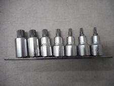 """TOPTUL Gaag0703- 1/2"""" Dr Spline Bit Socket Rail Set"""