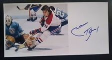 Marc Tardif Signed 4x8 Photo Autographed Montreal Canadiens NHL