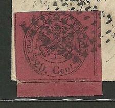 Francobolli italiani dell'antico Stato Pontificio rossi