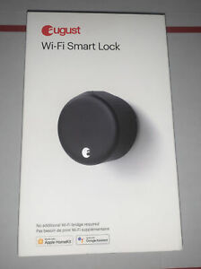 August Wi-Fi Smart Lock 4th Gen Matte Black Alexsa Google Assist New
