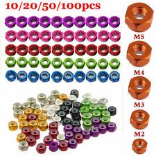 M2/M3/M4/M5/M6 Colorful Nylon Insert Self-Lock Nuts CNC Aluminum Nut 10-100pcs