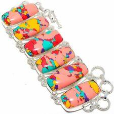 "Mosaic Balloon Jasper Handmade Silver Fashion Jewelry Bracelet 7-8"" SB4104"