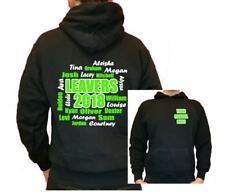 Personalised leavers school names year hoody hoodie jumper