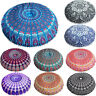 Indian Mandala Floor Pillows Round Bohemian Cushion Pillows Cover Huge Cover