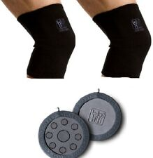 2 Nikken  KENKOTHERM KNEE WRAPS SIZE MEDIUM OR LARGE +  2 MAGNETIC POWER CHIPS