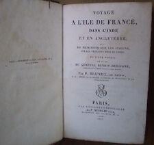 BRUNET/ VOYAGE A L'ILE DE FRANCE, DANS L'INDE/1825/ + mousson, vents/ De BOIGNE