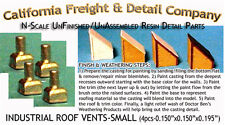 Industrial Roof Vents-Small (4pcs) N/Nn3/1:160-Scale California Freight & Co