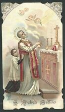 Holy card antique de San Andres Avelino santino andachtsbild image pieus