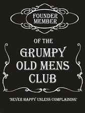 Grumpy Old Men's Club Medium Metal/Tin Sign