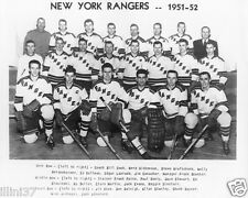 1951-1952 NEW YORK RANGERS  8X10 TEAM PHOTO