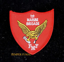 1st US MARINE BRIGADE NAVY ANGLICO HAT PATCH HAWAII RECON WING HAT PIN USS FMF