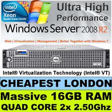 """DELL POWEREDGE 2950 III 2x 2.50GHZ QUAD CORE 16GB RAM 146 RAID SAS 3.5"""" DUAL PSU"""