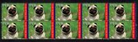 PUG YEAR OF THE DOG STRIP OF 10 MINT VIGNETTE STAMPS 2