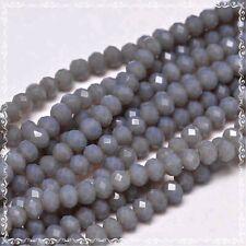 1 Strang 32,5cm  Rondelle geschliffen schwarz 1,7x2,5mm Glasschliffperlen 11340