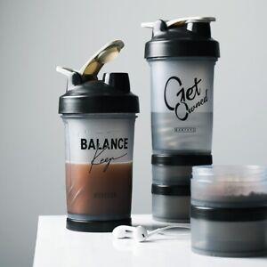 Sports Shaker Bottle 500ML Protein Powder Mixing Bottle Sport Fitness Gym Shaker