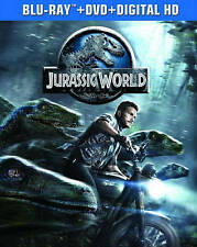 JURASSIC WORLD/Chris Pratt/NEW BLU-RAY+DVD+DIG. HD/BUY ANY 4 ITEMS SHIP FREE
