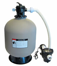 """Above-Ground Swimming Pool 24"""" Sand Filter System with 2 Speed 1 HP Pump"""