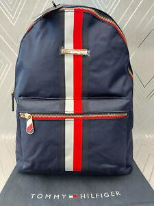 Tommy Hilfiger Genuine Ladies Navy Poppy Corparate Backpack BNWT