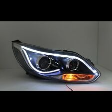 Angel Eye Xenon HID Headlights Lamp For Ford Focus Sedan Hatchback 2012~2014
