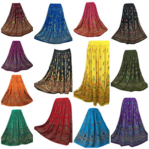 Sequin Party Skirt Summer Maxi New Gypsy Hippie Long 8 10 12 14 16 18 20 22