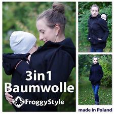 NEU! Baumwolle Tragejacke Umstandsjacke für Tragetuch Babytrage Größe S