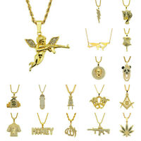 Hip Hop Gangsta Punk Miami Cuban Link Chain Necklace Pendant Fashion Men Jewelry