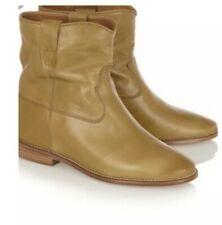 ISABEL MARANT Calf Leather Cluster Boots - Camel - 41