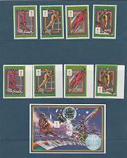 Comores république  jeux olympiques hiver   1988  poste  PA  BF  **