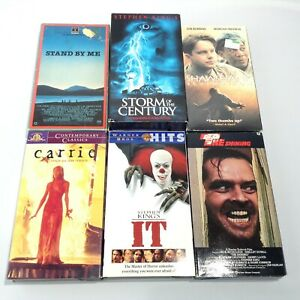 LOT 6 Stephen King HORROR VHS Shining IT Carrie STAND BY ME Storm Of The Century