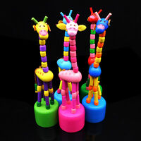 Wooden Gift Cute Kid Intellectual Early Educational Learning Animal Giraffe Toys