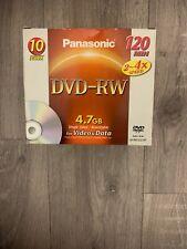 PANASONIC DVD-RW 4x, 120 MIN, 4.7gb – 10 PACK – Brand New