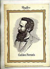 GALILEO FERRARIS - GIOVANNI AGNELLI #Ritratti Storici N.11#Supplemento La Stampa